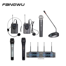 Wholesale Eight 8 Channel Wireless Microphone