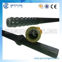 Varilla de perforación de rosca R25 R22 hexagonal 22 * 108mm caña para canteras