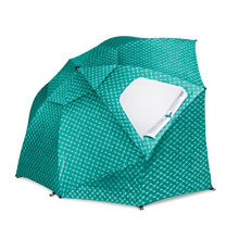 8-Foot SPF 50+ Canopy Sun and Rain Umbrella for Beach and Sports Events