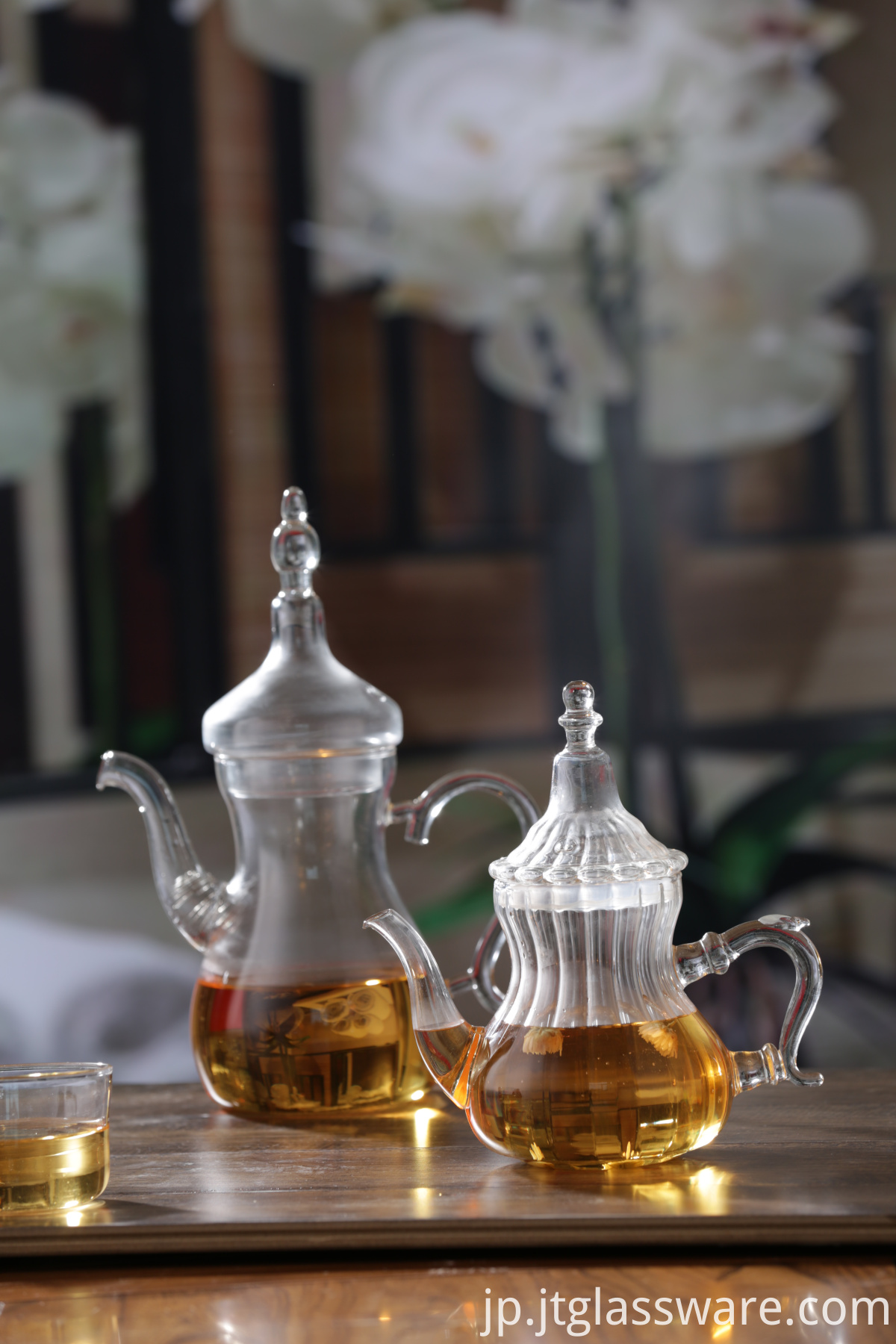 new design glass tea pot