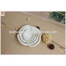 2015 plato de sopa de porcelana mejor venta y conjunto de placas