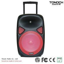 OEM 12 polegadas Plastic Trolley Professional Speaker com bateria