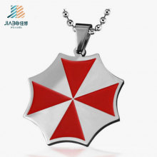 High Quality Promotion Stainless Steel Red Paint Custom Pendant Tag