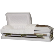 Sterling Gold White Urn Corner Casket