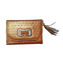 Guangzhou Supplier Fashionable Genuine Leather Lady Wallet Purse (W176)