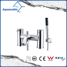 Chromed Surface Dual Handle Bathtub Mixer with Hand Shower (AF6009-2D)