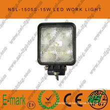 Luz de trabalho LED 15W, luz de trabalho LED 10-30V DC com 1275lm, feixe focal / inundado, LEDs Epsitar 5PCS X 3W para caminhões, luz de trabalho LED