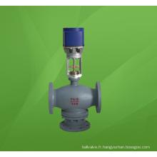 Vanne de régulation de flux de mélange électrique à trois voies (3 voies) (ZDLQ)