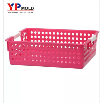 Custom New design plastic A4 multipurpose storage basket for office plastic injection mould/ tooling