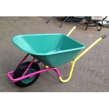 Carrinho de mão de roda resistente com moldura de cor difusa