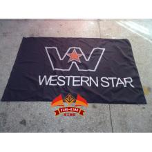 Bandera de carreras de camiones de estrella occidental bandera de coches eléctricos RC 100% poliéster bandera de 90 * 150 CM bandera de estrella occidental
