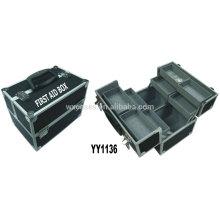 boîte vide de secourisme en aluminium avec 8 plateaux à l'intérieur