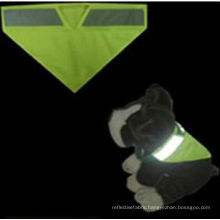 yellow Pet's reflective Safety Vest with cartoon logo