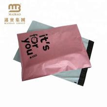 Envelopes plásticos do transporte da prova de cores cor-de-rosa feita sob encomenda da impressão de cor livre da amostra grátis para a roupa