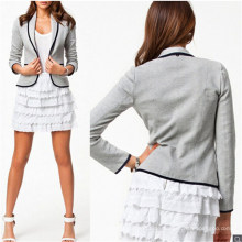 Mode-dünne Knopf-Kragen-beiläufige Geschäfts-Frauen-Blazer-Klage (50087)