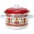 enamel pot with russia style