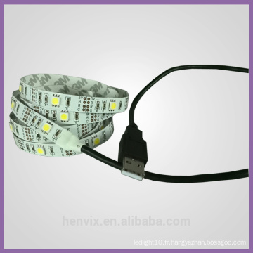 High Lumen rgb multicolore imperméable USB 5v ws2801 led strip