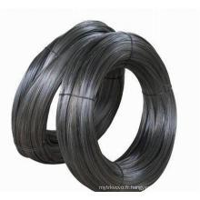 Fil de fer noir de l'usine professionnelle