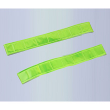 LED PVC Reflective slap wrap elastic reflective velcro armband glow in dark
