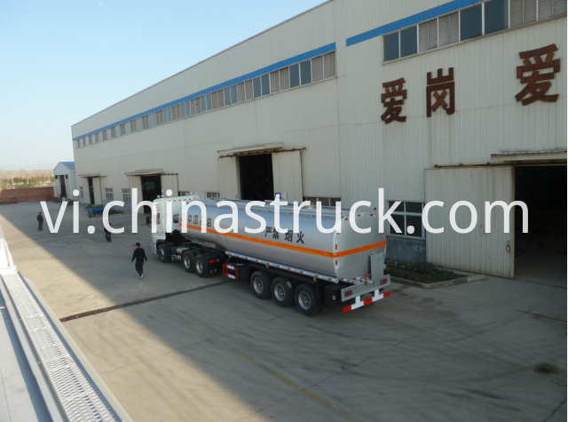 2 compartments fuel tank semi-trailer