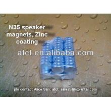 Imán de neodimio sinterizado eath raro disco D20x5mm para altavoz