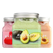 Organic Fruit Strawberry Exfoliating Whitening Moisturizing Body Scrub Cube Private Label Face and Body Scrub