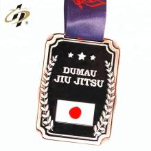 Personalizar al por mayor sus propias medallas de metal suave premio de judo esmalte