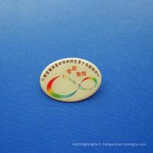 Badge imprimé décalé, badge organisationnel personnalisé (GZHY-OP-017)