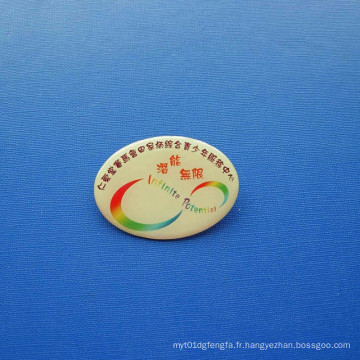 Badge imprimé décalé, badge organisationnel personnalisé (GZHY-OP-017)