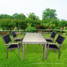 5шт металл патио открытый сад обеденный стол