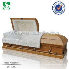 caixão de madeira sólida de qualidade por atacado