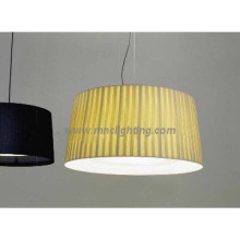 popular modern ceiling pendant chandelier with beige fabric shade