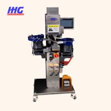 Máquina de fixação automática de botão de pressão, sem costura