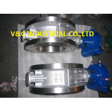 Stainless Steel Butterfly Valve with Flange End