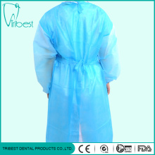 Disposable Surgical Non-Woven Waist Tapes Isolation Gown