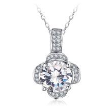 Personnalisé trèfle Pave AAA Zircon Ladie collier de bijoux de mariage (CNL0209-B)
