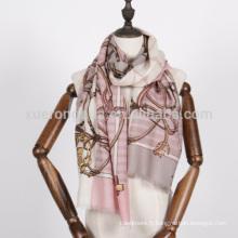 écharpe de chaînes rouges et blanches pour dames