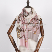 ladies red and white chains scarf for ladies