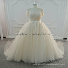 New Style Champagne A Line Elegant Wedding Dress