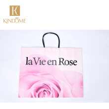 KINDOME High Quality Custom Shopping Paper Bag with rope handles