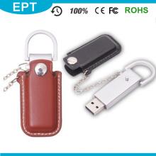 Werbegeschenk Benutzerdefinierte Metall PU-Leder USB-Stick