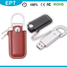 Promotional Gift Custom Metal PU Leather USB Flash Drive