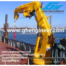 Manuseio e levantamento de equipamentos no navio