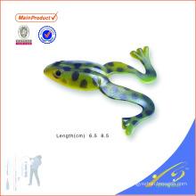 FGL016 personnalisé couleur appâts à la main doux saut grenouille pêche leurre