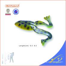 FGL016 подгонянный цвет ручной работы приманки мягкий прыжок лягушки рыболовные приманки