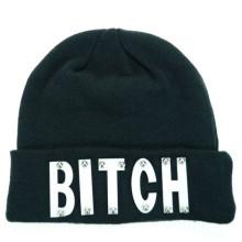 Sombrero de invierno equipado sombrero de gorrita tejida bordado de letra de sombrero (XT-B028)