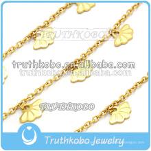 Pulsera de navidad para niñas brazaletes de cadena de oro Pulsera y brazaletes de oro de 14 k