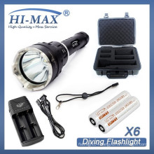 HI-MAX best selling 200m irradiation lotus attack head underwater dive torch led dive light