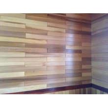 Esquina del panel de pared de cedro rojo