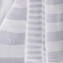 Tela de rayas de satén de algodón blanqueado y teñido